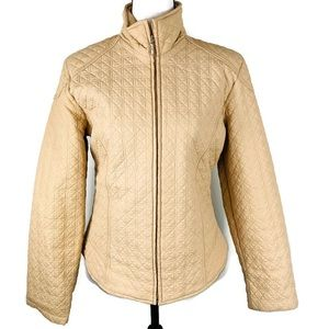Essentials by Milano Tan quilted Jacket Coat large